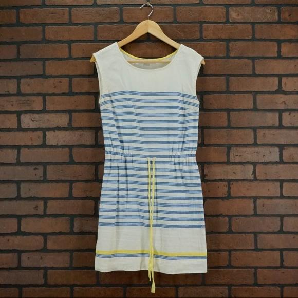 2e507e4e274 LOFT Dresses   Skirts - LOFT Linen Stripe Nautical Dress Drawstring Waist